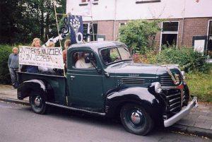 Een oude Dodge pick-up met een boodschap...
